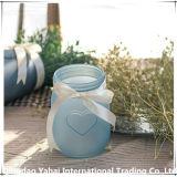 Vase en verre de couleur bleue/ jar pour la décoration