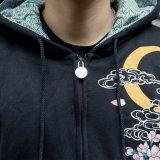 Qualitätsgedruckte und gestickte Paar-mit Kapuze Sweatshirts für Soem-Service
