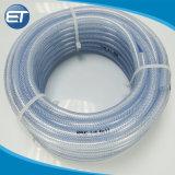 """1/2 """" 3/8本の""""卸し売り適用範囲が広い透過食品等級PVCナイロンファイバーの編みこみの管の管のホース"""