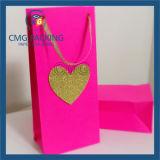 OEM colorida Tarjeta Blanca un pequeño regalo bolsa de embalaje (DM-GPBB-037)