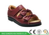 2 цветов женщин удобную обувь с диабетом съемная внутренняя подошва из кожи