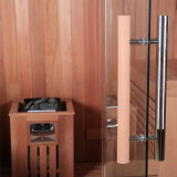 カナダのヒマラヤスギの石作られたサウナのストーブおよびラジオ機能M-6034の樹木が茂った屋内サウナ部屋