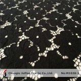 Горячая ткань шнурка цветка черноты сбывания (M1028-1)