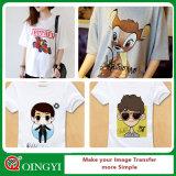 Un bon prix de gros Qingyi Couleur du voyant Version imprimable Transfert de chaleur pour T-shirt en vinyle