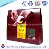 Sac de papier commercial de l'impression couleur Logo pour cadeau de thé