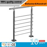 Aço inoxidável peças do sistema do corrimão da escada / Corrimão de vidro