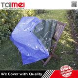 Bâche de protection ignifuge de PE de camion de couverture en plastique imperméable à l'eau bleue de toiture