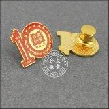 Oro placcato intorno al Pin del risvolto, distintivo organizzativo (GZHY-LP-017)