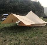 5m wasserdichte Familien-kampierendes Segeltuch-Zelt LuxuxGlamping Rundzelt mit Sun-Farbton-Plane