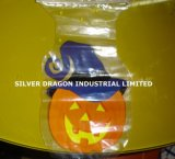 Spezieller geformter Plastik gedruckter Beutel mit Reißverschluss, Holloween Beutel