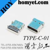 USB 3.1 Haute vitesse Type C du connecteur femelle du connecteur USB pour le produit numérique