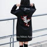 Hoodies Größe der Form-Frauen lange Sweatshirts mit Stickerei