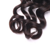 Trama india del pelo humano del pelo de la alta del cordón del encierro onda ligera durable de la naturaleza