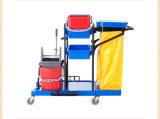 Carrinho de limpeza de trolley de limpeza multifuncional de plástico (FW-173)