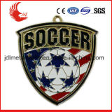 Técnica chapeada e medalhas regionais do futebol da caraterística de Europa