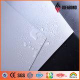 Rato PVDF metálico cinzento que reveste o revestimento exterior do alumínio da decoração