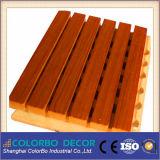 Painéis acústicos de madeira! Revestimento de parede MDF Painel Acústico