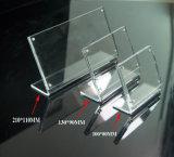 En acrylique transparent Porte-étiquette de prix Menu panneau publicitaire Présentoir Nom de table