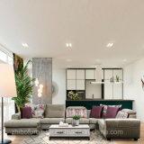 ホーム家具のための優雅な灰色Uの形のコーナーファブリックソファー