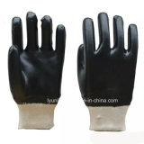 Handschoen van het Werk van pvc breit de Katoen Met een laag bedekte met Pols