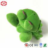 Grand jouet de pensée de grenouille de peluche bourré par animal vert de yeux seul
