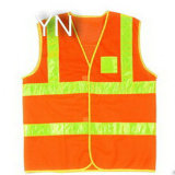 Reflective alaranjado Safety Vest com Pocket