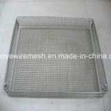 Cesta de la malla de alambre / cesta de la esterilización del acoplamiento de alambre / bandeja médica de la autoclave
