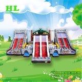 美しい象のジャングル様式の膨脹可能なFuncityの弾力がある城およびスライド