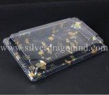 Коробка суш PS изготовленный на заказ пластмассы устранимая, поднос суш