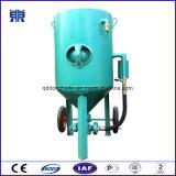 De Structuur van het staal zandstraalt Schoonmakende Machine, die Pot, Zandstraaltoestel zandstraalt