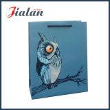 A coruja animal barata do projeto personaliza o saco de papel feito sob encomenda impresso logotipo