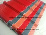 A telhadura forte do PVC da resistência de impato Shingles o plástico material corrugado telhando a folha