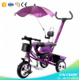 Multifunctionele Trike voor Jong geitje/3 in 1 Wandelwagen van Tricyle van de Driewieler/van de Baby van de Kinderwagen van de Baby van de Wandelwagen met de Staaf van de Duw