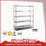 Acero inoxidable 5 estantes de almacenamiento de nivel (HS-512B)
