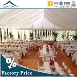 20mx30m 아름답고 호화스러운 백색 화포 광저우에 있는 실크 천막 안대기를 가진 큰 결혼식 천막