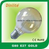 G80 cancelam o bulbo Incandescent branco e dourado da geada