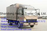 Sinotruk 4X2 가벼운 밴 트럭 유로 2 디젤 엔진 HOWO 밴 Box Truck