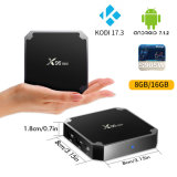 Rectángulo superior determinado elegante androide Amlogic S905W Kodi del rectángulo de X96mini TV Media Player 17.3