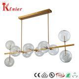 De hete Lamp van de Tegenhanger van het Plafond van de Bal van het Glas van het Metaal van het Messing van het Restaurant van de Verkoop Decoratieve Enige Duidelijke Lichte Moderne