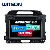 Processeurs quatre coeurs Witson Android 9.0 DVD de voiture GPS pour Kia Sportage R2011 construit en fonction OBD