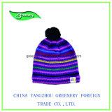 Chapeau multicolore de Knit de l'hiver de la mode 2017 promotionnelle