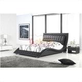 2014 het Moderne Franse Houten Beklede Zachte Bed D2780# van de Slaapkamer