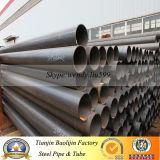 Tubo d'acciaio della vernice nera di api 5L smussato con l'accoppiamento per l'acqua Drilling