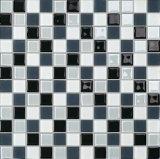 洗面所の壁(G423002)のための灰色、白黒ガラスモザイク