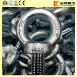 Queda de aço carbono galvanizado forjadas DIN580 Parafuso de Olhal de Içamento