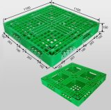 1100*1100 recycleer HDPE Materiële Milieuvriendelijke Stapelbare Lichte Plastic Pallets