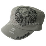 Distressed Washed Rhinestone Army Sport Military Cap (TM1995)