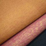 A cor dobro imprimiu o couro gravado do saco, couro sintético do plutônio