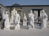 Sculpture de marbre des beautés quatre-saisons
