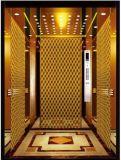 金贅沢な装飾の小さい機械部屋(RLS-211)が付いているGearless牽引の乗客のエレベーター